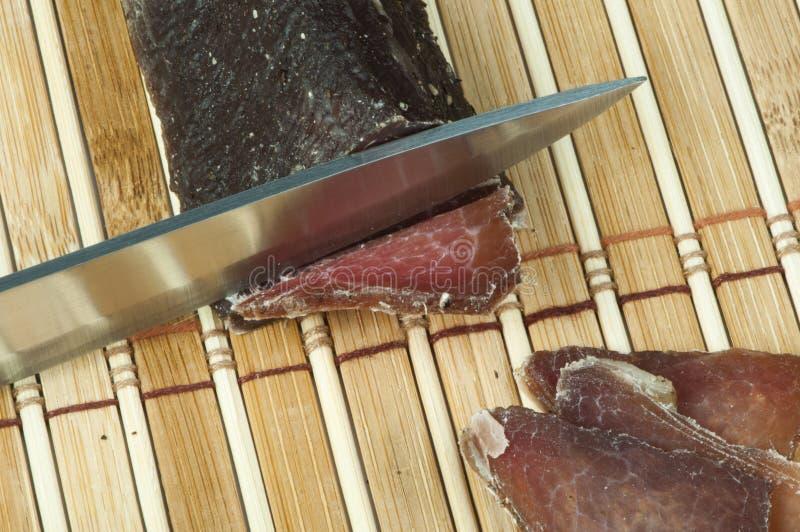 Eigengemaakt natuurlijk kalfsvlees droog vlees royalty-vrije stock foto