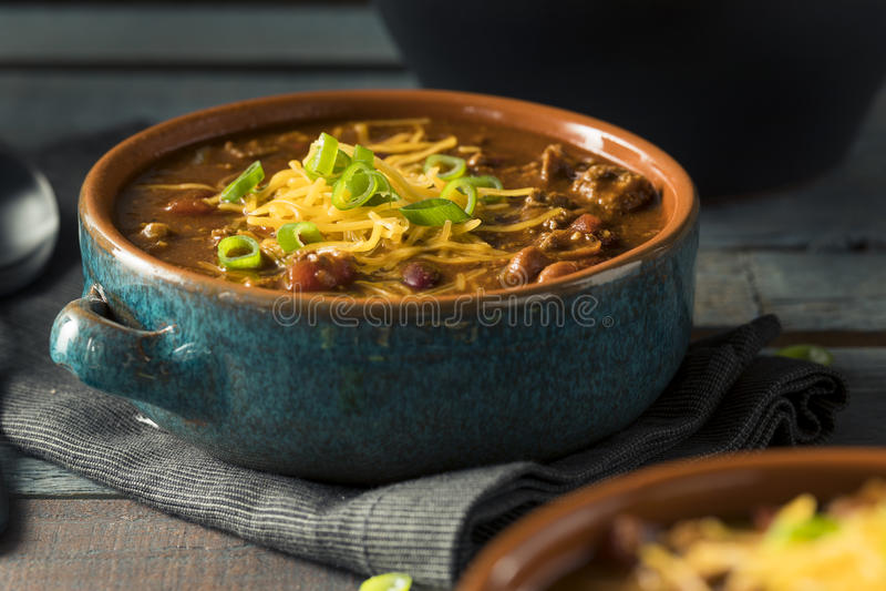 Eigengemaakt Rundvlees Chili Con Carne stock foto's