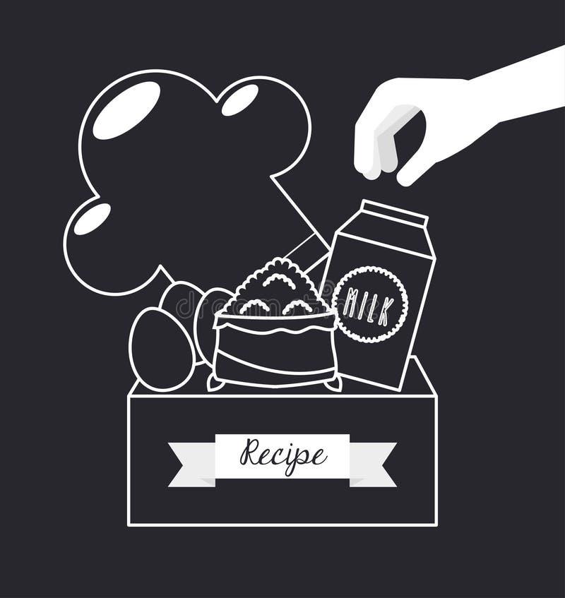 Eigengemaakt voedsel royalty-vrije illustratie