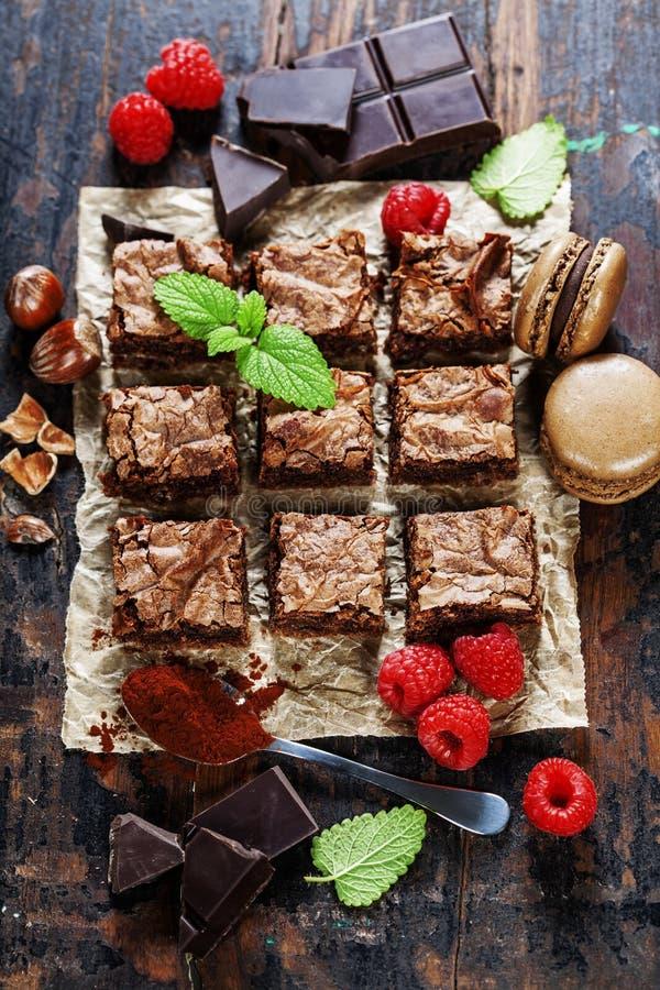 Eigengemaakte brownie royalty-vrije stock foto's