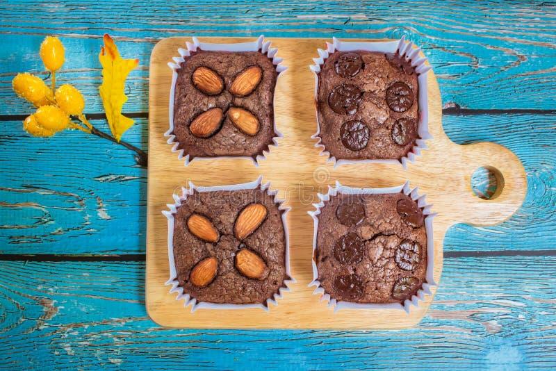 Eigengemaakte browniecake royalty-vrije stock fotografie