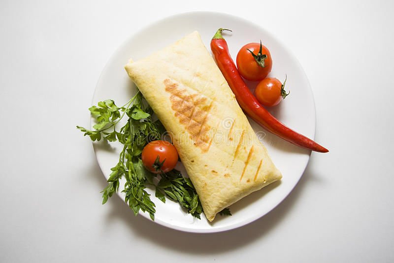 Eigengemaakte burrito stock foto