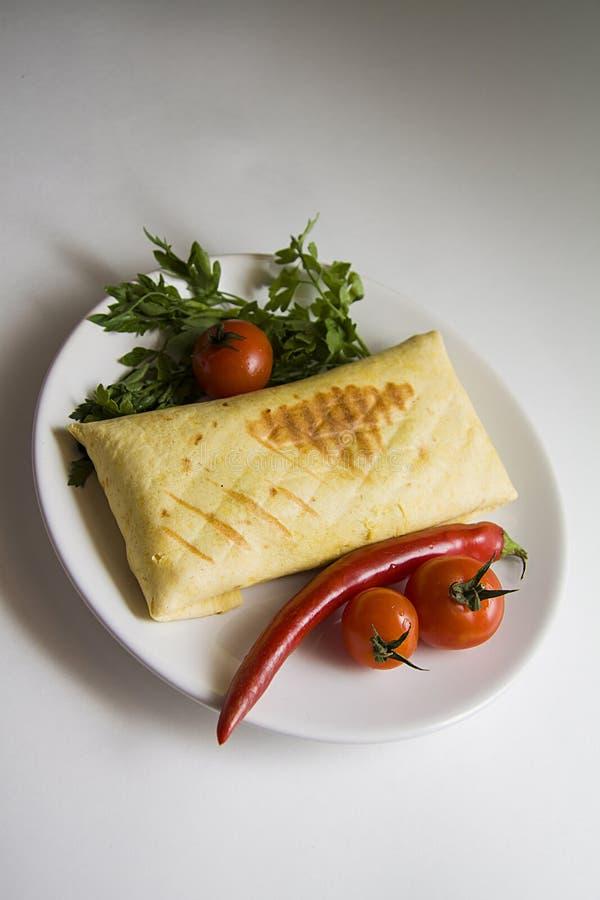 Eigengemaakte burrito stock foto's