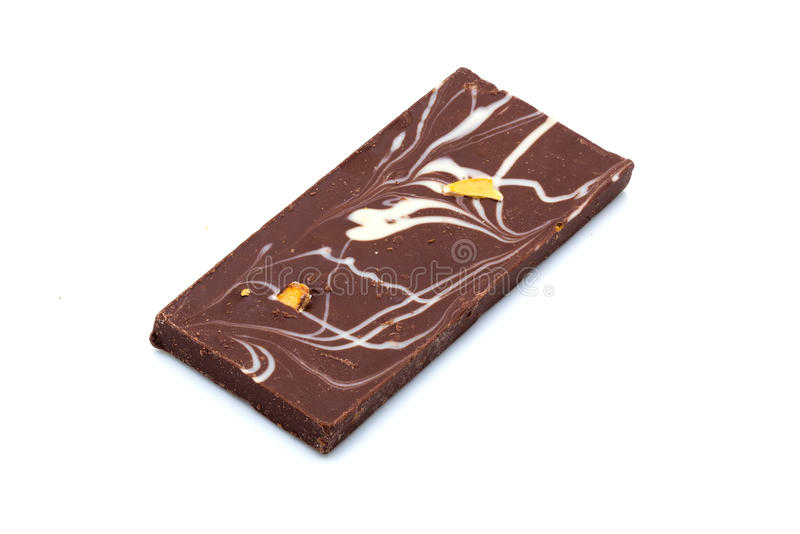 Eigengemaakte chocoladereep stock foto's