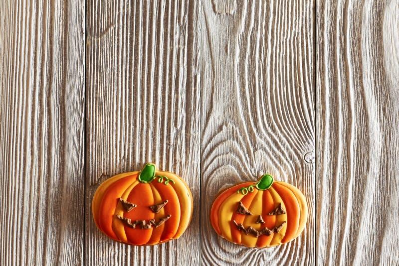 Eigengemaakte de peperkoekkoekjes van Halloween royalty-vrije stock afbeelding