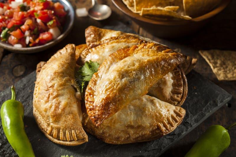 Eigengemaakte Gevulde Kip Empanadas stock afbeeldingen