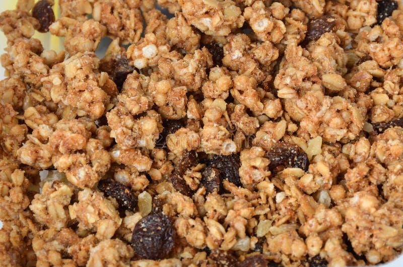 Eigengemaakte gezonde granola Gezonde goedheid Knapperig en zoet stock afbeeldingen
