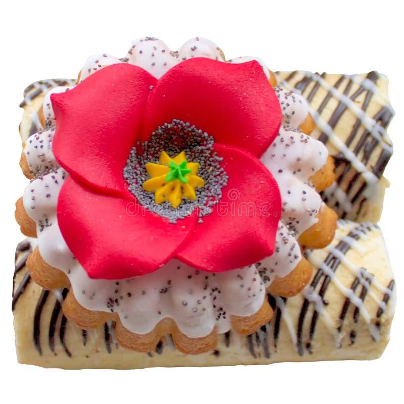 Eigengemaakte huiscake royalty-vrije stock afbeelding