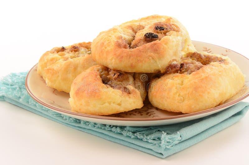 Eigengemaakte Kaneelbroodjes Stock Foto