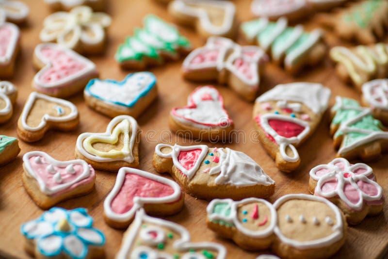Eigengemaakte Kerstmiskoekjes royalty-vrije stock afbeelding