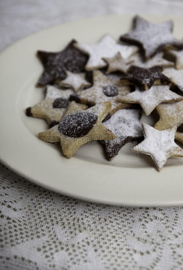 Eigengemaakte Kerstmiskoekjes stock afbeelding