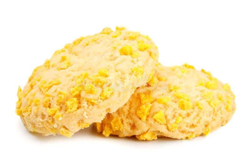 Eigengemaakte Koekjes met de Spaanders van de Cornflake stock fotografie