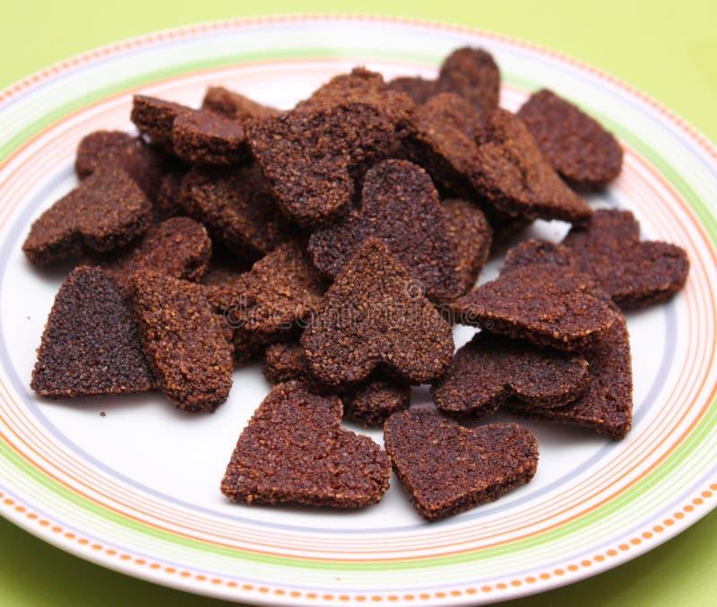 Eigengemaakte koekjes voor honden stock afbeeldingen