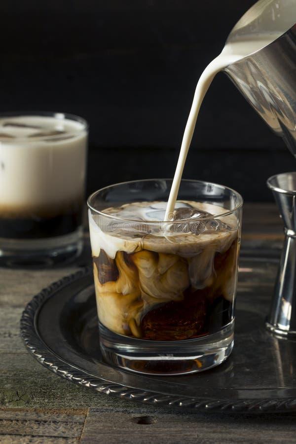 Eigengemaakte Koffie Witte Rus stock fotografie