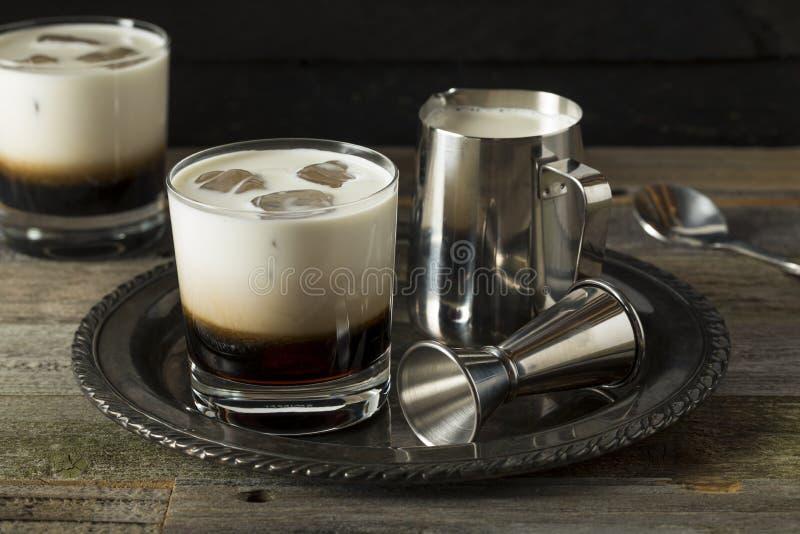 Eigengemaakte Koffie Witte Rus royalty-vrije stock foto's