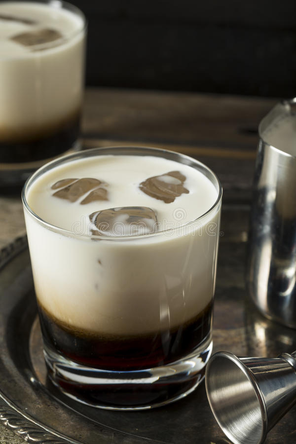 Eigengemaakte Koffie Witte Rus royalty-vrije stock afbeelding