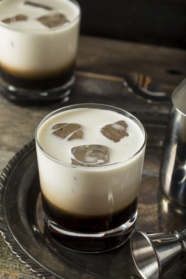 Eigengemaakte Koffie Witte Rus stock foto's