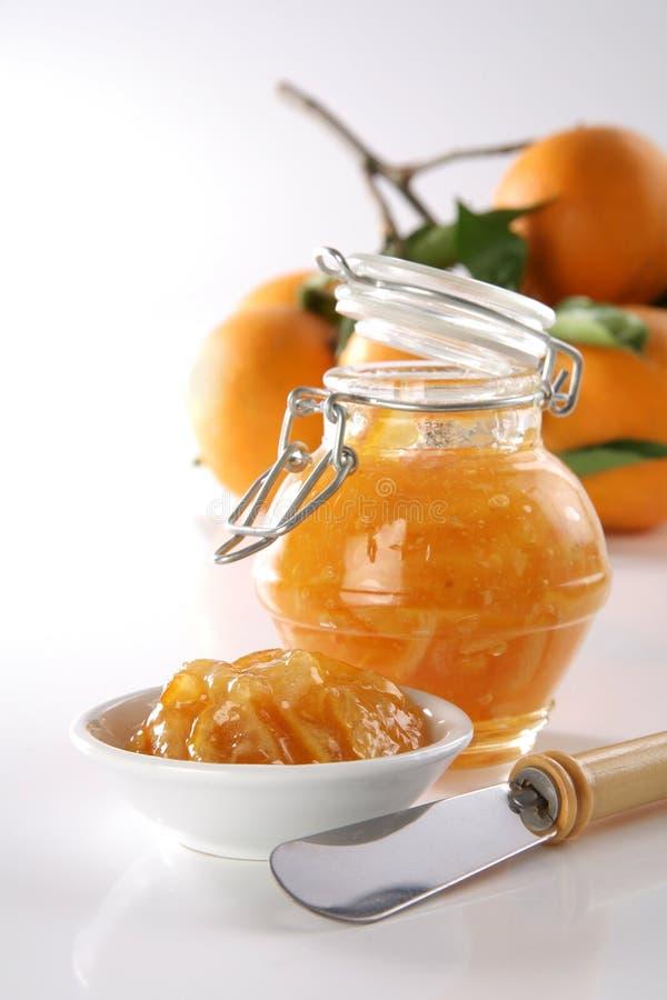 Eigengemaakte Oranje jam royalty-vrije stock foto