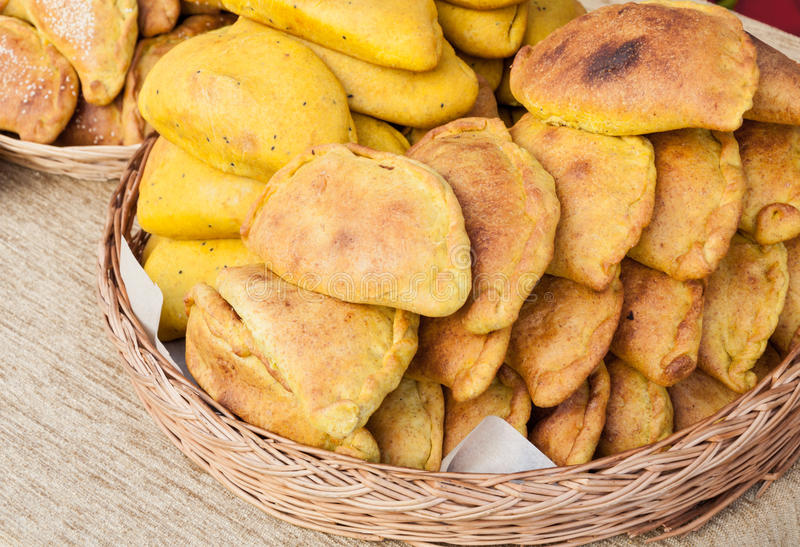 Pasteien en broodjes stock afbeelding