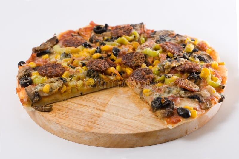 Eigengemaakte Pizza stock foto's