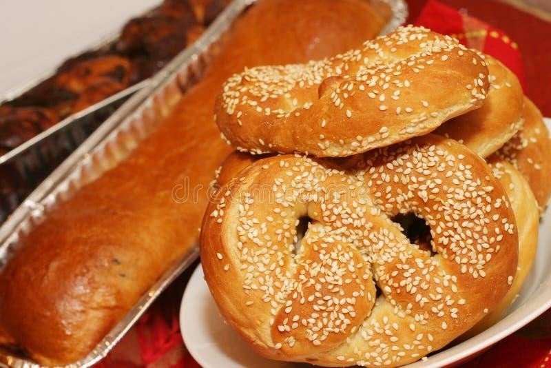 Eigengemaakte pretzels stock afbeelding