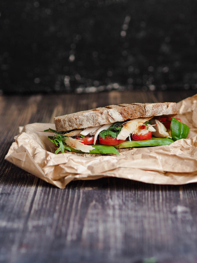 Eigengemaakte sandwich royalty-vrije stock afbeeldingen