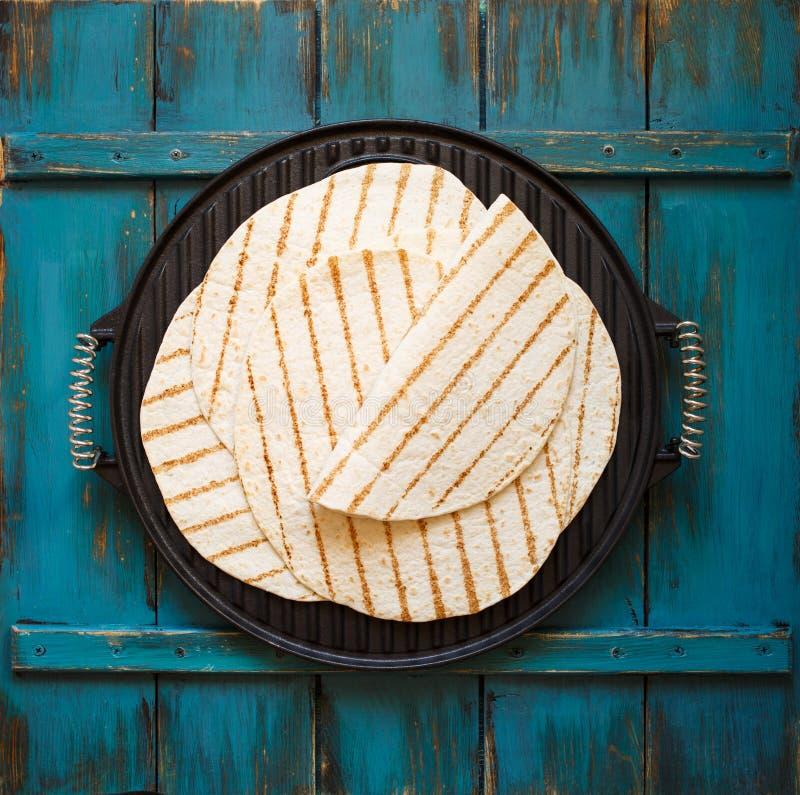 Eigengemaakte tortilla's stock afbeelding