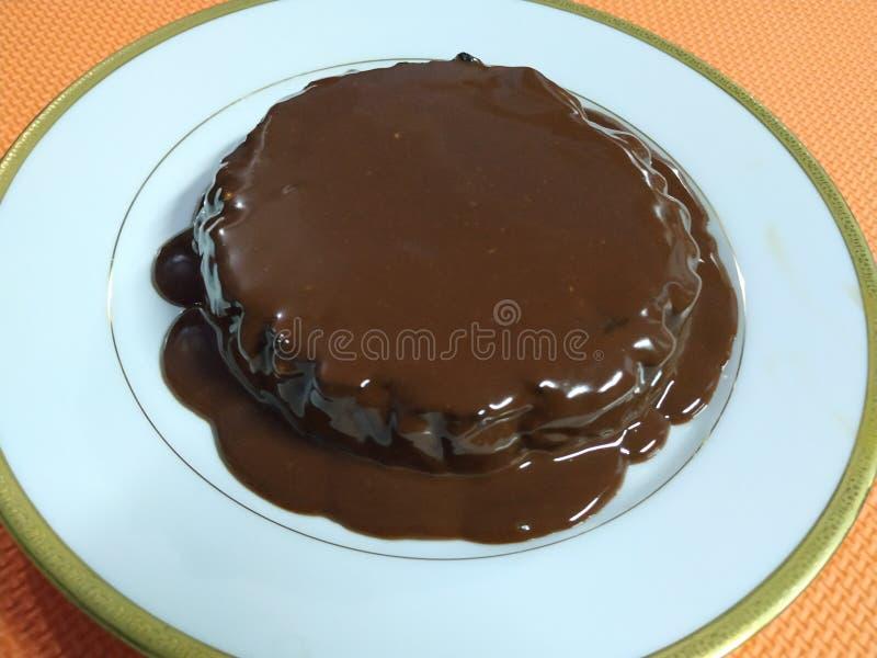 eigengemaakte uiterst kleine brownie stock afbeelding