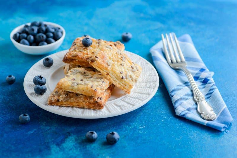 Eigengemaakte van de de zadenveganist van de haverzonnebloem het ontbijtkoekjes stock foto