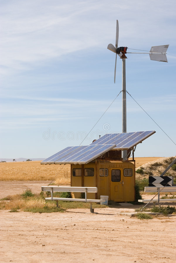 Eigengemaakte wind en zonne royalty-vrije stock fotografie