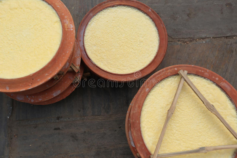 Eigengemaakte yoghurt stock foto