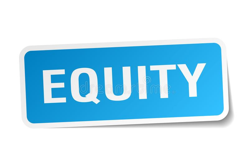Eigenkapitalsaufkleber stock abbildung