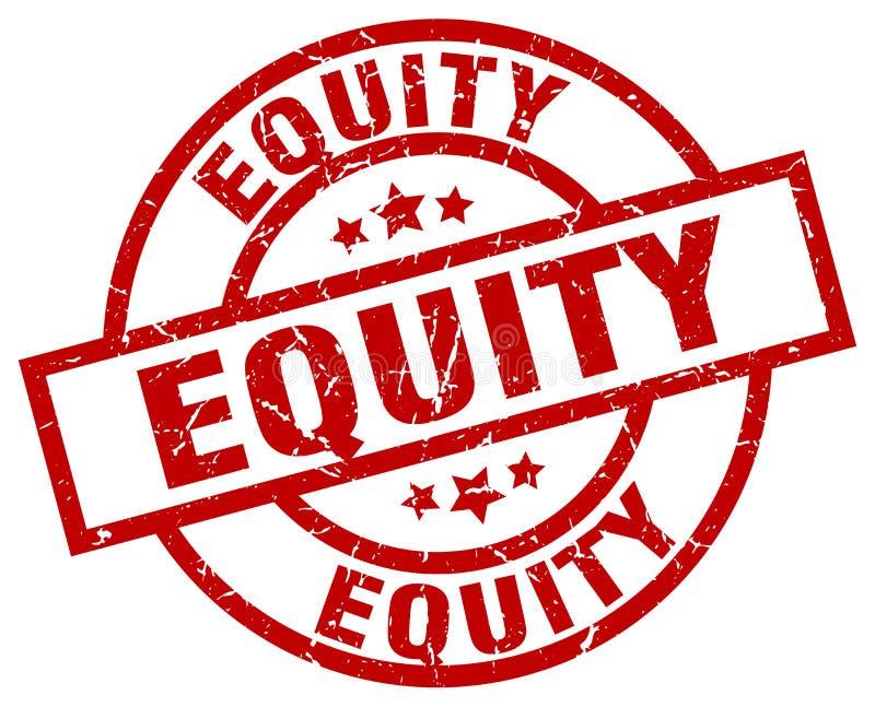 Eigenkapitalsstempel stock abbildung