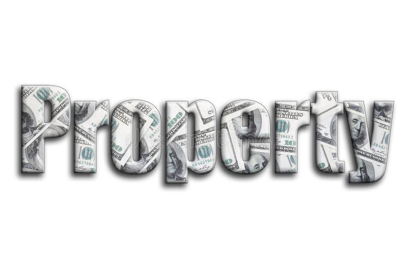 eigenschaft Die Aufschrift hat eine Beschaffenheit der Fotografie, die viele US-Dollar Rechnungen darstellt stockfoto