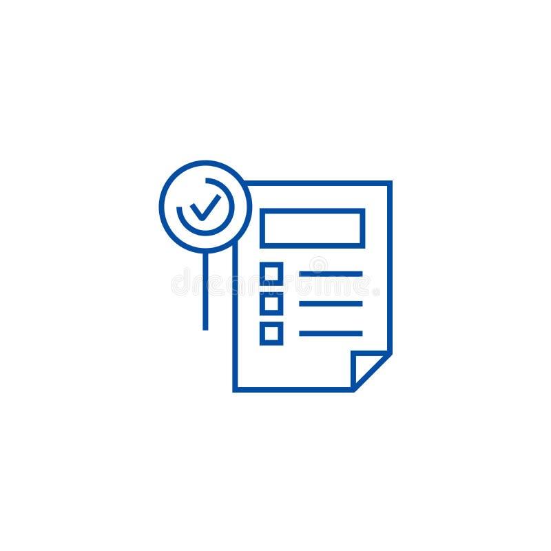 Eigenschaften bedecken Linie Ikonenkonzept Eigenschaften bedecken flaches Vektorsymbol, Zeichen, Entwurfsillustration lizenzfreie abbildung