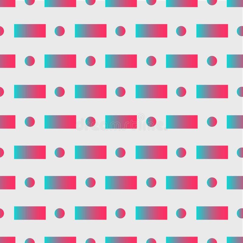 Eigentijdse abstracte illustratie met abstracte geometrische vormen als achtergrond op zachte witte achtergrond Grafisch geometri stock illustratie
