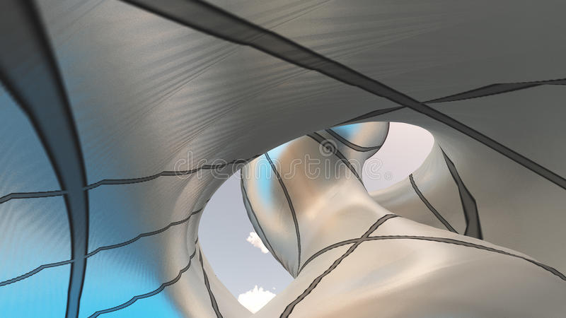 Eigentijdse architectuur stock illustratie