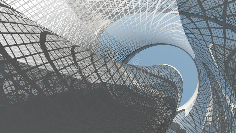 Eigentijdse architectuur vector illustratie