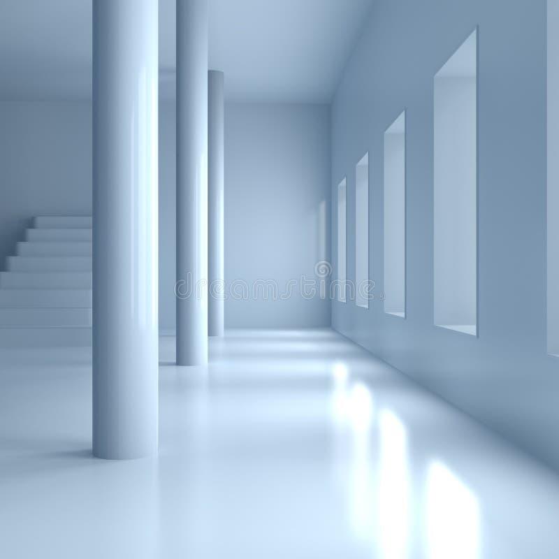 Eigentijdse brede zaal vector illustratie