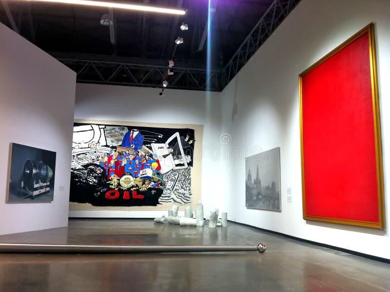 Eigentijdse Chinese kunsttentoonstelling in Moskou stock afbeelding