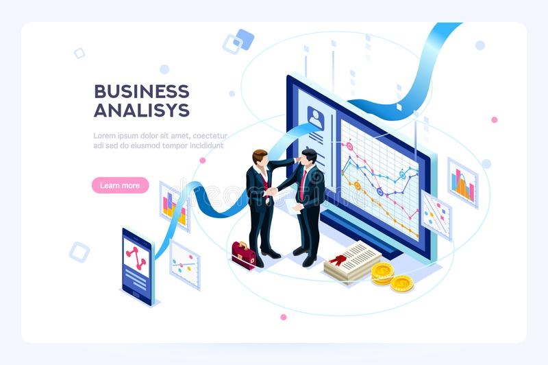 Eigentijdse Marketing investerings virtuele financiën stock illustratie