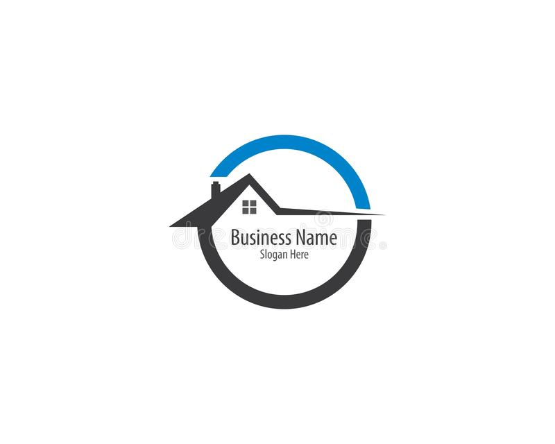 Eigentum Logo Template stock abbildung
