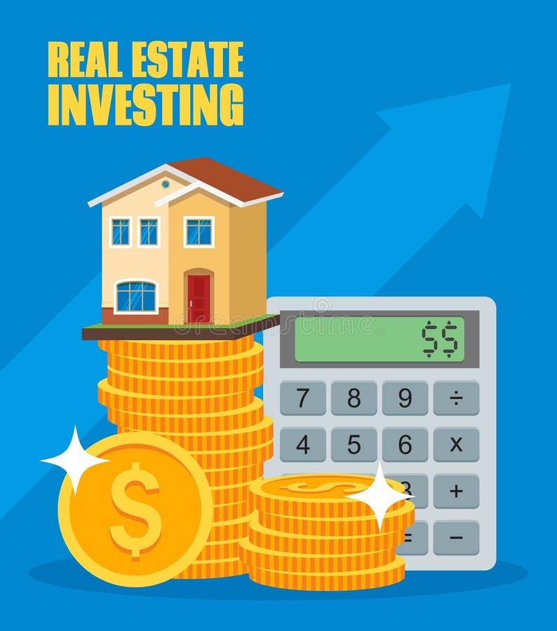 Eigentums-Investitions-Konzept Haus und Immobilien lizenzfreie abbildung
