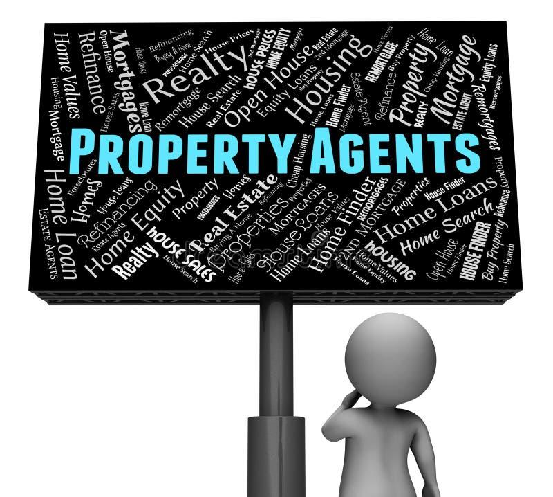 Eigentums-Mittel zeigt Real Estate und Häuser an lizenzfreie abbildung