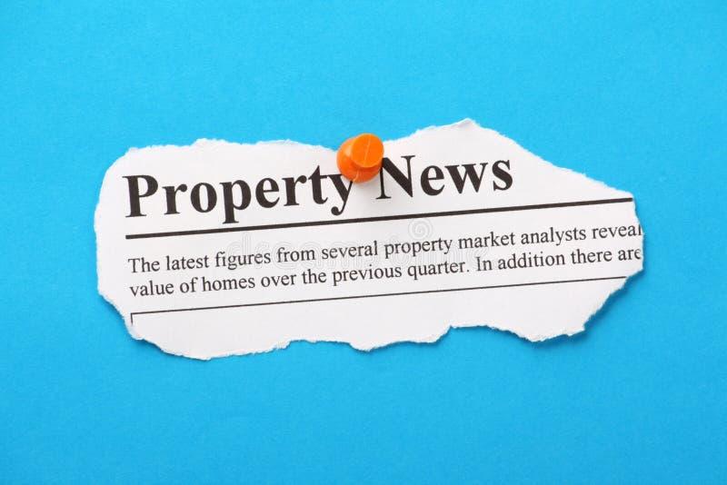 Eigentums-Nachrichten lizenzfreie stockfotos