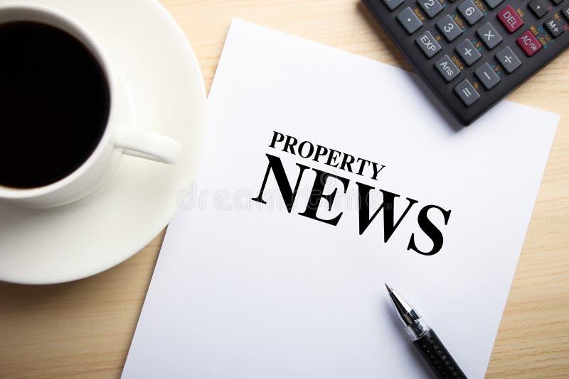 Eigentums-Nachrichten stockbild