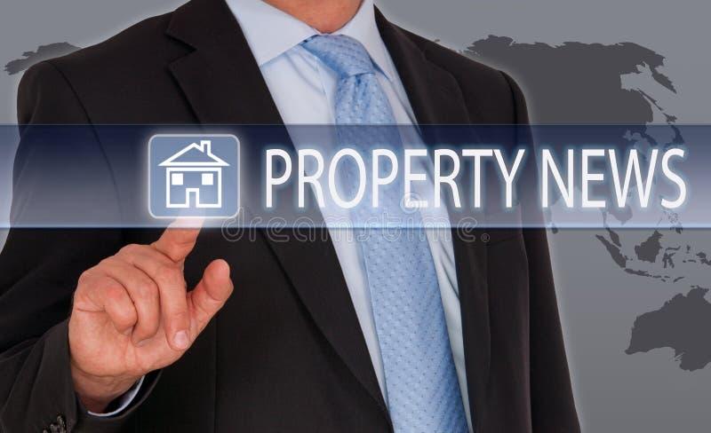 Eigentums-Nachrichten - Real Estate lizenzfreies stockbild