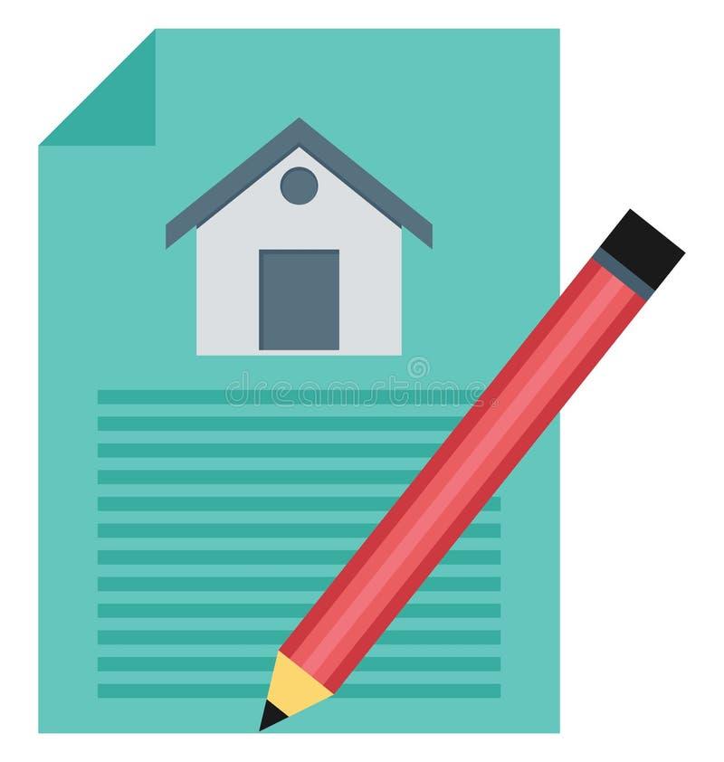 Eigentums-Papiere, Eigentums-Vertrag lokalisierte Vektor-Ikonen können sein ändern mit jeder möglicher Art vektor abbildung
