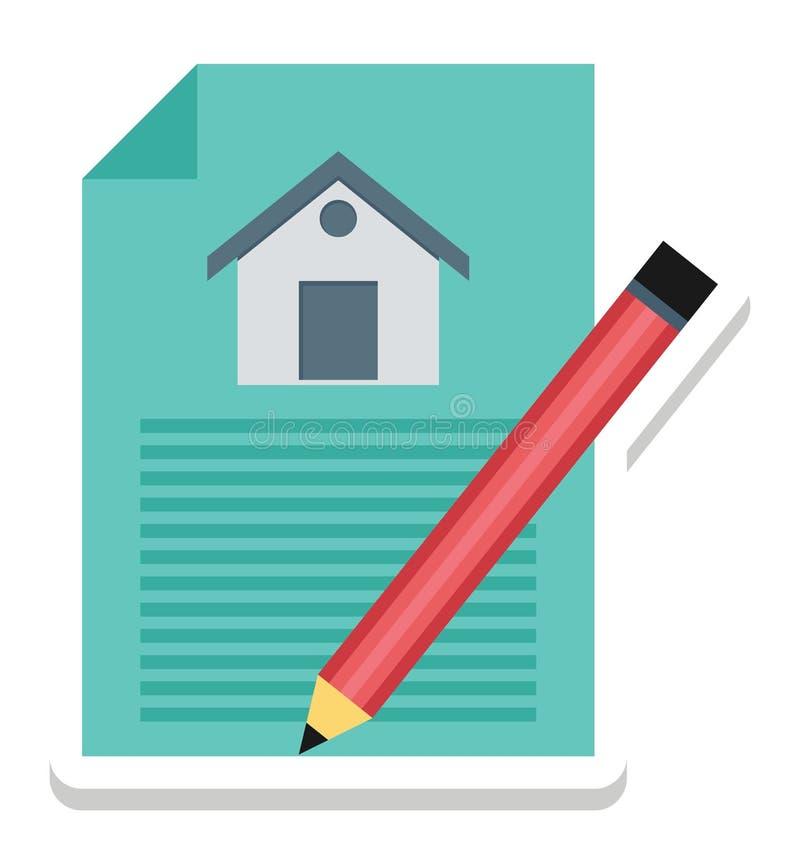Eigentums-Papiere, Eigentums-Vertrag lokalisierte Vektor-Ikonen können sein ändern mit jeder möglicher Art lizenzfreie abbildung