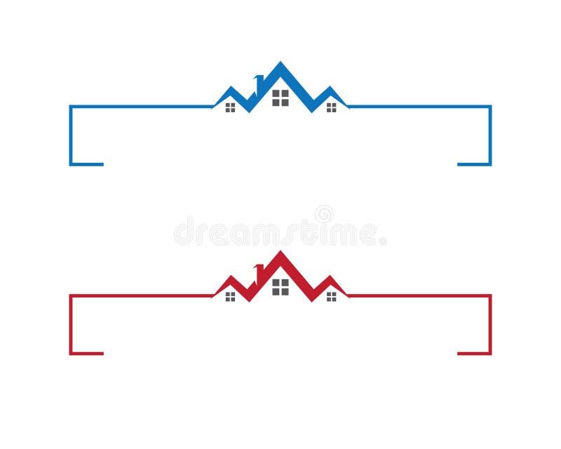Eigentums-und Bau-Logo vektor abbildung
